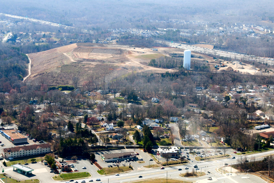 the Potomac Landfill at Dumfries, used for Construction and Demolition  Debris, in 2018