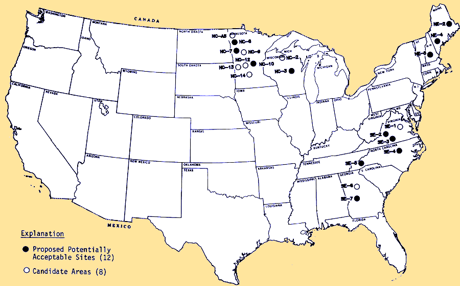 HighLevel Radioactive Waste In Virginia - Map of nuclear waste sites in us