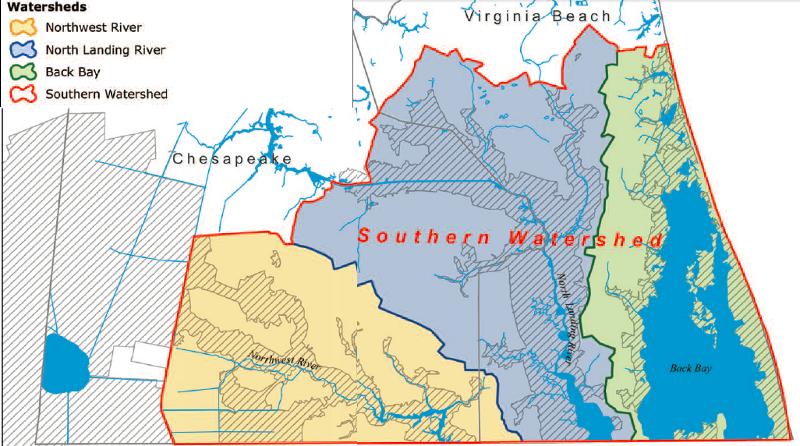 Watershed Boundaries in Southeastern Virginia