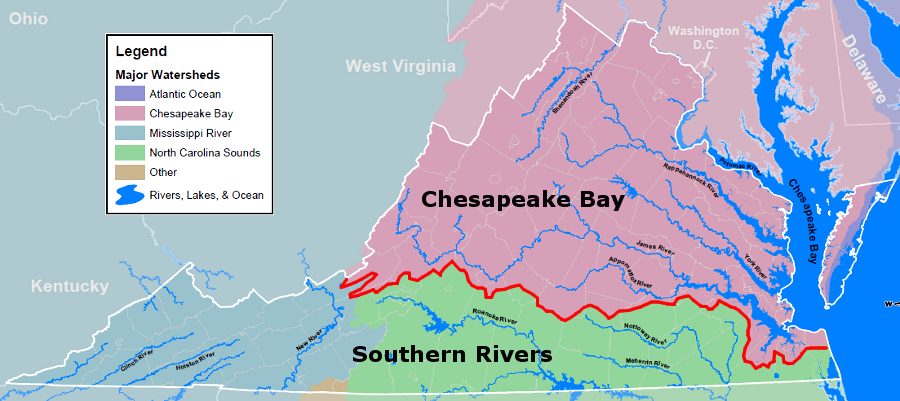 Hydrologic Units of Virginia