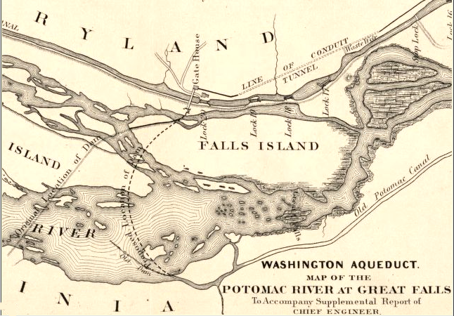 Falls Church Virginia Map.The Water War Between Fairfax County And The City Of Falls Church