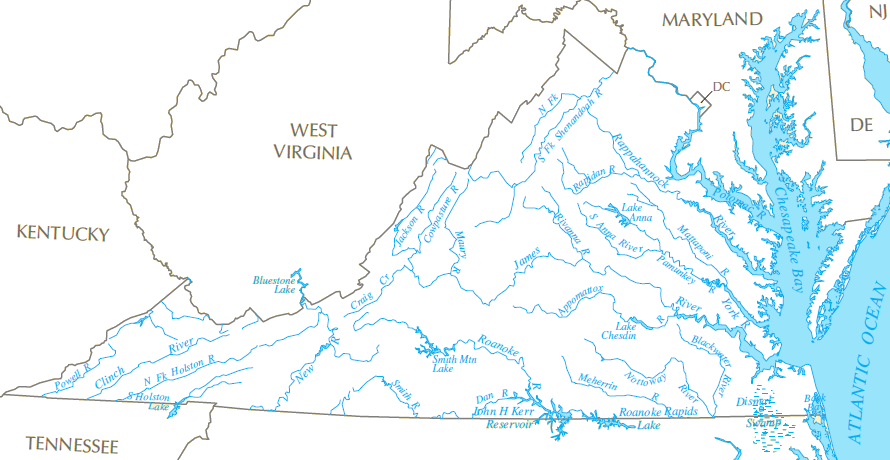rivers in Virginia