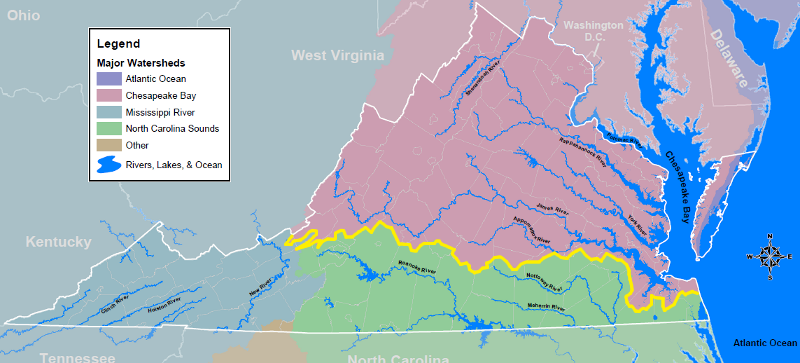 All of Virginia Is Not In the Chesapeake Bay Watershed